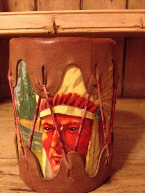 Vintage American Indian Toy Drum