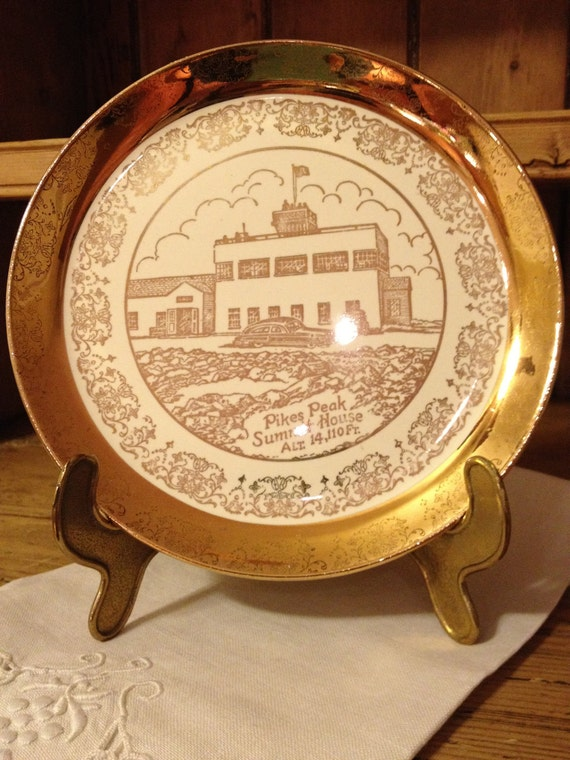 Reserve Listing for two plates/ Pikes Peak and Manitou Springs