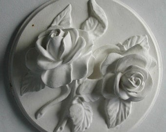 Lush Roses Unfinished 1950s Chalkware