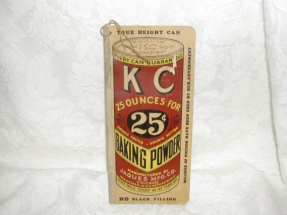 Blank Vintage Notebook Grocers Want Book KC Baking Powder 1930s