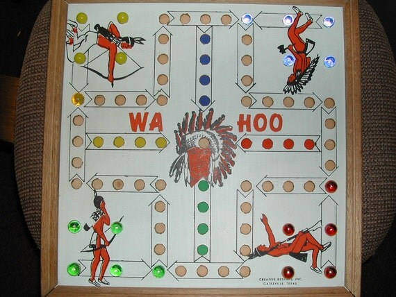 Made in the USA 1950s Board Game WAHOO and Checkerboard