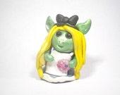 Alice in Wonderland  cake topper  goblin sculpture