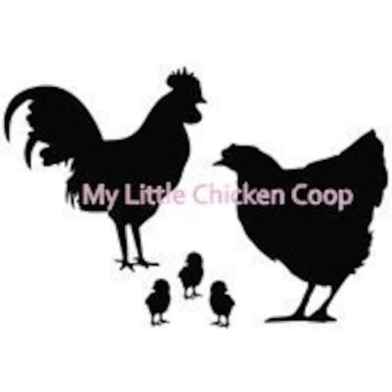 Family Chicken Window Decal Farm Fun