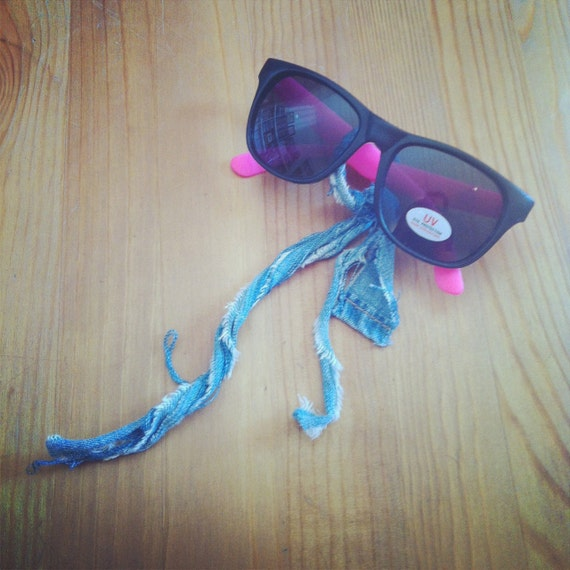 True Religion for The Hole Gallery NYFW 2011 Swag 80s Style Neon Pink Sunglasses
