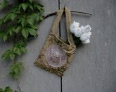 Tawny summer Purse tote yoga bag ipad gym bag upcycled Boho purse Rustic Shabby French Cowgirl Chic Beach bag