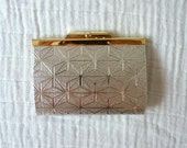 SALE Vintage geometric metallic change purse. Gold and silver.