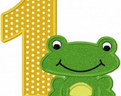 Instant Download Frog Birthday Numbers Font Applique Machine Embroidery Design NO:1136