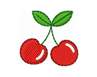 Instant Download Cherry Filled Stitches Machine Embroidery Design NO:1114
