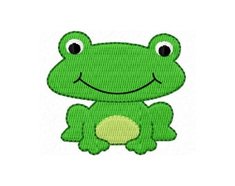 Instant Download Frog Mini Filled Stitch Machine Embroidery Design NO:1125