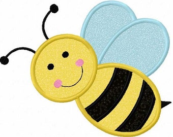 Instant Download Bumble bee Applique Machine Embroidery Design NO:1131
