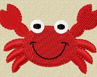 Instant Download Crab Mini Filled Stitches Machine Embroidery Design NO:1142