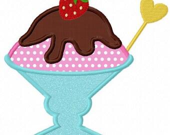 Instant Download Ice cream  Applique Machine Embroidery Design NO:1150