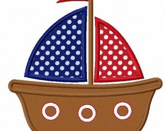 Instant Download Sailing boat  Applique Machine Embroidery Design NO:1171