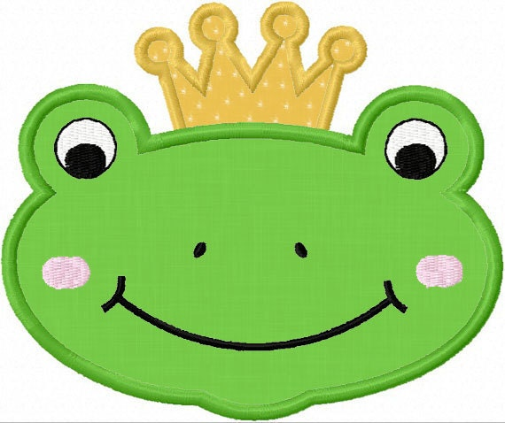 Instant Download Frog Face And Frog Prince Applique Machine