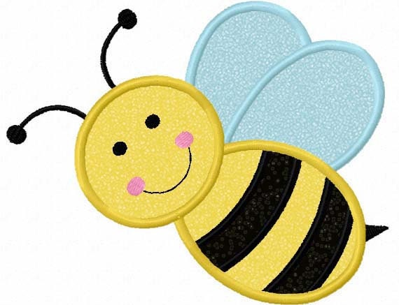 Instant Download Bumble bee Applique Machine Embroidery Design NO 1131Queen Bee Template