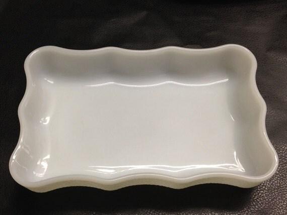 USA Milk Glass Baking Dish