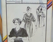 Vintage 1981 Stretch & Sew 1594 Gathered V-Neck Dress and Top Sizes 28 - 44 Designed by Ann Person