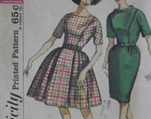 Vintage1962 Simplicity 4552 Pattern for Misses' One-Piece Dress with Two Skirts in Size 12