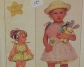 Vintage 1988 Simplicity 8654 Pattern for Toddlers' Sundress and Panties in Size 3
