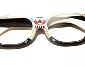 Tuxedo Tone Glasses Frames - Sugar Skull Style