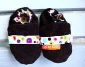 Girls Crib Shoes - Corduroy - Size 6-12 Months