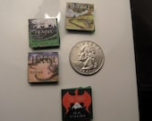 "SALE - The Hobbit Book Covers Glass Tile 3/4"" Mini Magnets - set of 4"