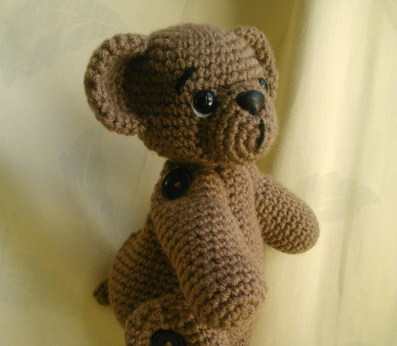 Mocha the posable bear PDF  crochet pattern ENGLISH