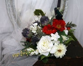 Scottish Wedding bouquet, Scottish National Heritage Tartan Bouquet-- Free Shipping in the USA