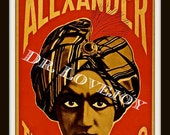 ALEXANDER the Man Who Knows -  Vintage 1900 Magician Poster ~ 11 X 14 inch Giclee print