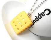 Sale (Limited Time) - Cute Resin Custard Cream Biscuit Pendant Necklace
