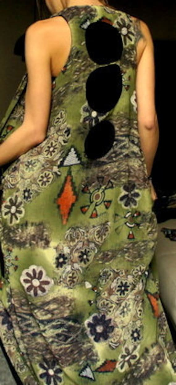 Double sided Vest Tunic Unique  One of a Kind