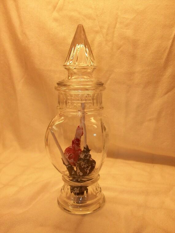 Beautiful Apothecary Jar/Candy Dish