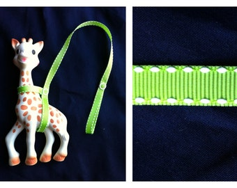 Sophie the Giraffe Leash Harness Lime Green