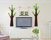 Large wall stickers the backdrop sticker owl tree, Free Shipping