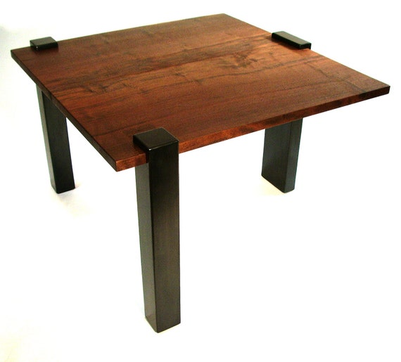 Modern contemporary Walnut end table