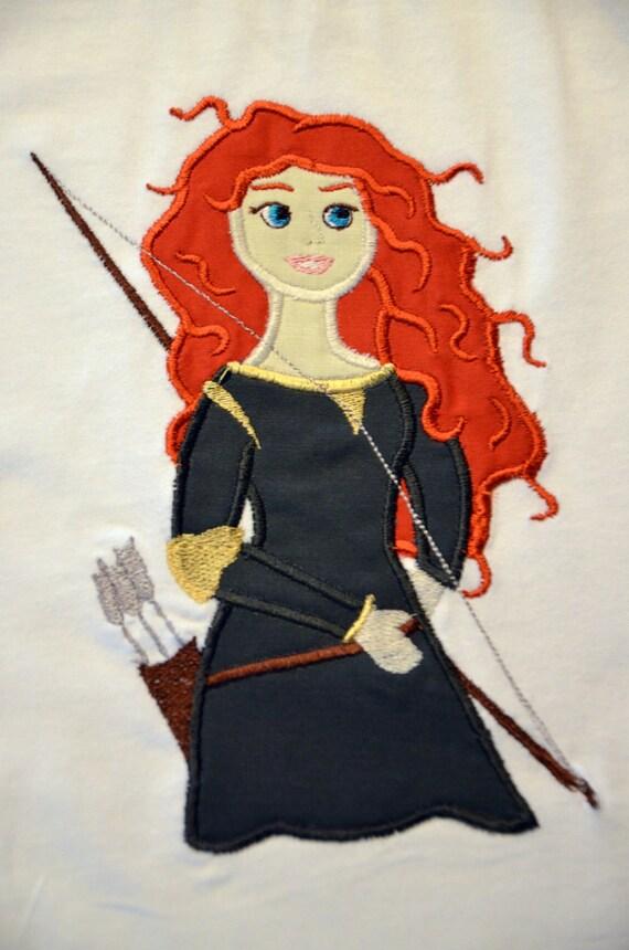 Boutique Disney Brave Princess Merida Inspired Applique Shirt