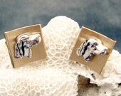 Vintage Dog Cufflinks Swank Lab Retriever H027