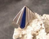 Sterling Ring Blue Stone Kabana H091