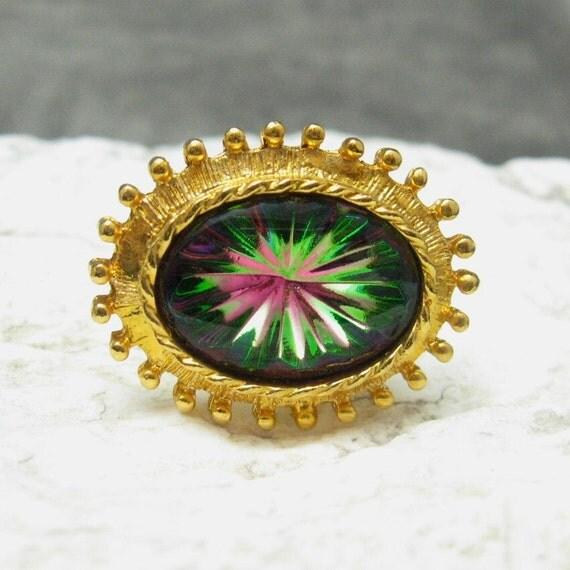 Cufflinks Stunning Prism Rhinestone Large Removable Mesh H079