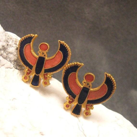 Vintage Phoenix Cufflinks Egyptian H111