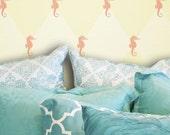 Seahorse: Reusable, Wall Stencils - Decorative Wall Stencils, Nautical, Beach House, stencil, stencils, wall decor