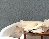 Belladonna Scrolls: Reusable, Wall Stencil, decorative wall stencils, wall stencils, stencil, french stencil, scrollwork, art nouveau