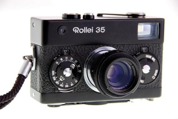 Vintage Rollei 35 Camera in Black