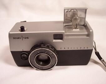 Vintage Camera Sears Camera Instant Camera 1970s 126 Film Roebuck
