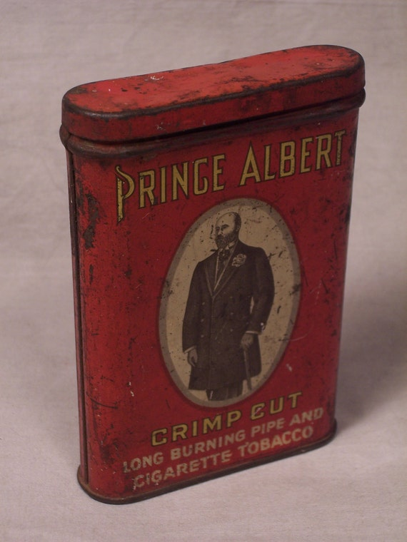 Vintage Prince Albert Crimp Cut Chewing Tobacco Tin