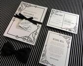 DIY Printable Wedding Invitation Empire - 4 pieces