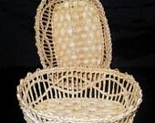 Little basket of treasures handmade weaving natural dried corn leaves