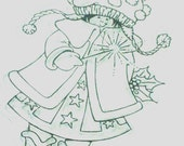 Clear Cling Stamp - Marianne Designs - Snoejes - Girl - Stamp for Coloring with Copics or Prismacolors