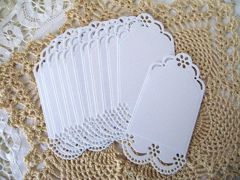 die cuttags white cardstock 12 pieces paper lace doily