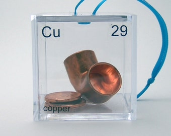 Copper - Periodic Table of Elements Cube Ornament